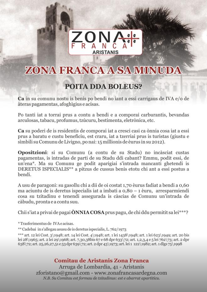 zonafranca vol aristanis